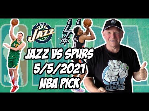 Utah Jazz vs an San Antonio Spurs 5/5/21 Free NBA Pick and Prediction NBA Betting Tips
