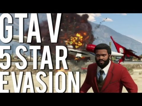 GTA V : 5 Star Wanted Level Chase, Escape & Evasion (NO CHEATS)