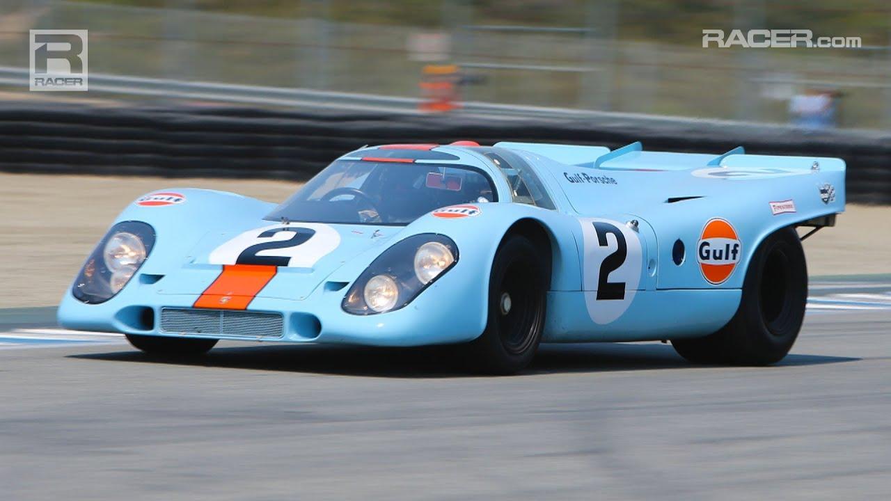 Mazda Raceway Laguna Seca >> REUNION: Porsche 917K Visor Cam - YouTube