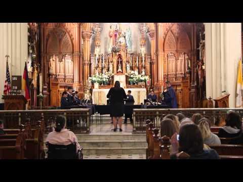Metro Catholic School Handbell Ensemble performs Rollercoaster