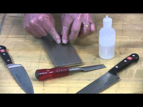 Video of Sharpening Plane Iron with 8 in. Dia-Sharp® Bench Stone