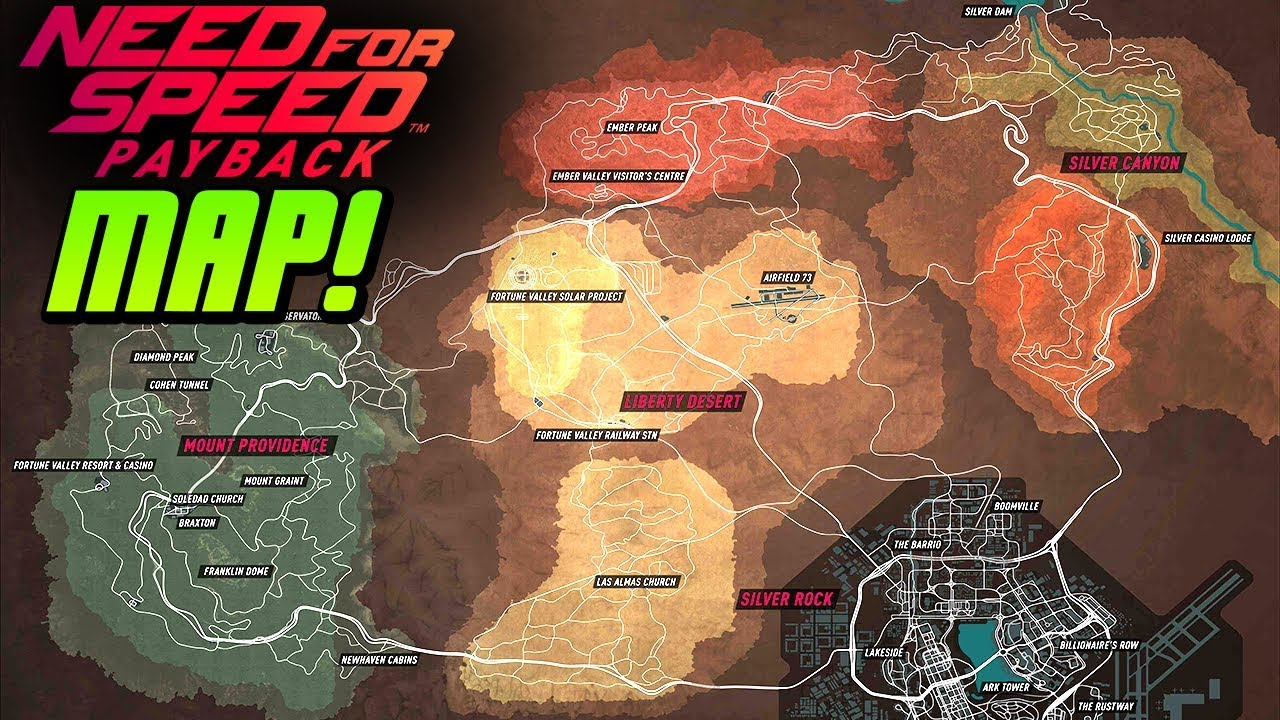 The NEED FOR SPEED PAYBACK MAP