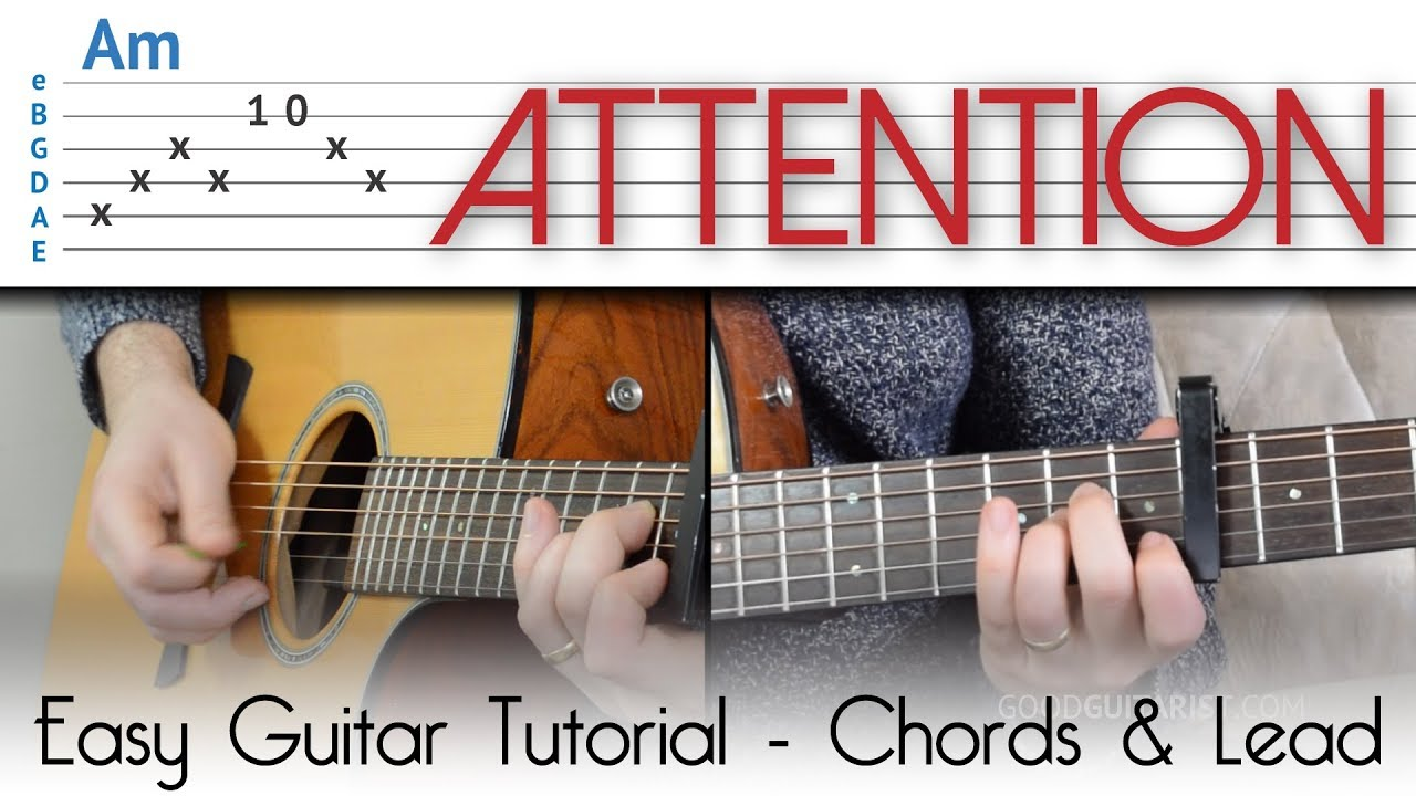 Attention Easy Guitar Tutorial Charlie Puth 4 Easy Chords The