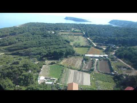 Landing at Isole Tremiti in an Alidaunia Agusta A109E