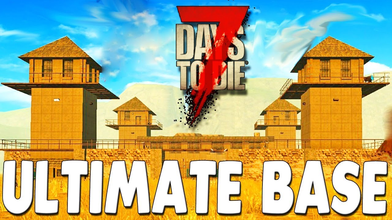 NEW BASE BUILD Surviving ULTIMATE Zombie Apocalypse Update 19 | 7 Days to Die Gameplay