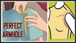 Perfect Armhole Drafting For All Sizes (Small, Medium, Large & Extra Large) | Easy Method | DIY