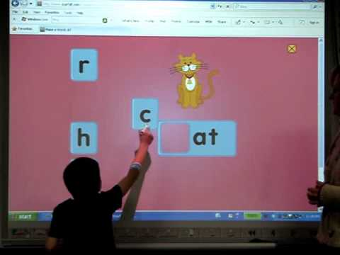 Kindergarten Interactive White Board Use
