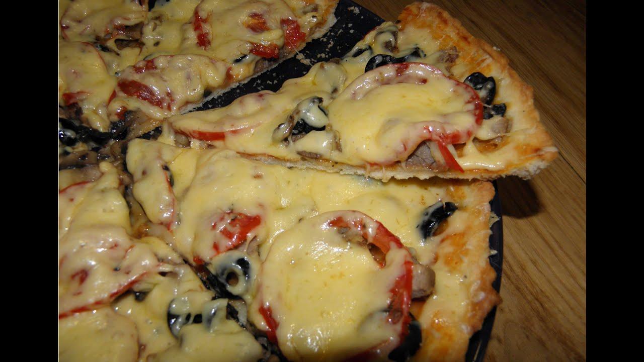 Рецепт приготовления вкусной пиццв на тонком тесте