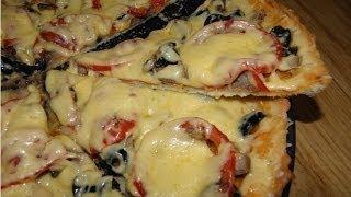 Пицца на тонком тесте,несладкая выпечка