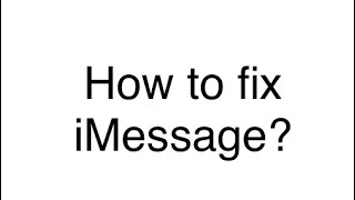 How to fix iMessage on Messages when you can't text anyone.
