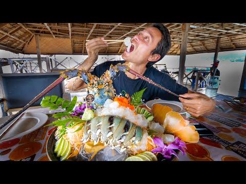 Huge 7 COLOR LOBSTER!! Sashimi + Deep Fried w/ Garlic   Ultimate Food Aquarium!!
