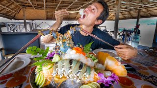 Huge 7 COLOR LOBSTER!! Sashimi + Deep Fried w/ Garlic | Ultimate Food Aquarium!!