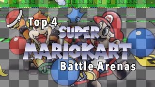 top 4 super mario kart battle arenas