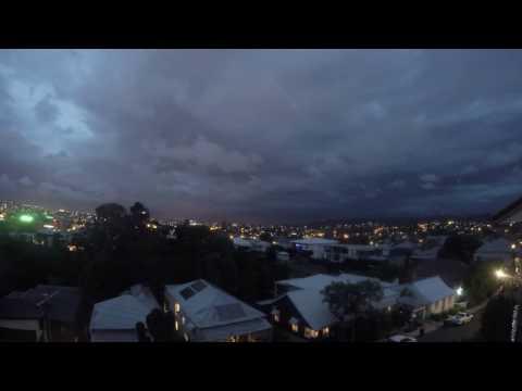 Brisbane storms 2nd January 2017 timelapse