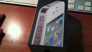 iPhone 4 White Unboking & Set Up