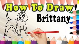 How To Draw A Brittany DOG | Draw Easy For Kids