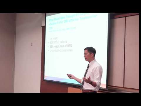 A Lunchtime talk by Dr Yan Ngiam Kee Yuan on Managing Diabetes - Lessons from Big Data