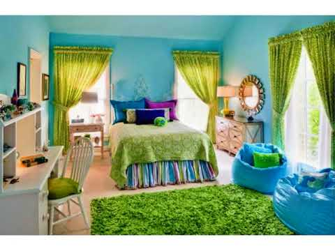 exciting teen girl bedroom green | Blue Green Paint Bedroom Ideas Teenage Girls ideas - YouTube