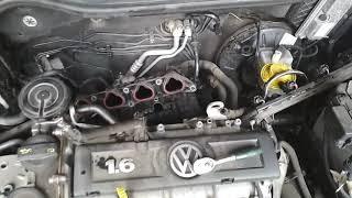 ТЕЧЬ антифриза на VW Polo 1.6