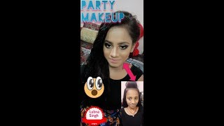 PARTY MAKEUP:»SMOKEY & COOPER MAKEUP:»BY:»LUBNA SINGH