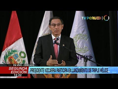 """Presidente Martín Vizcarra lanza modelo de desarrollo """"Triple hélice"""""""