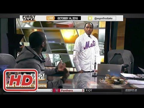 ESPN First Take - Kevin Hart Gifts Stephen A. Smith A Tim Tebow Jersey!2017