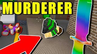 2 KILLS WITH 1 KNIFE! (ROBLOX YOUTUBER MURDER MYSTERY 2)