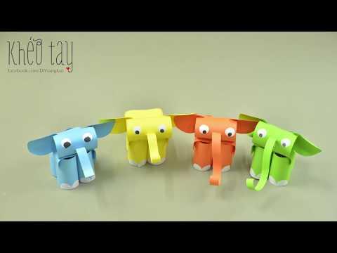 DIY Paper Elephant - Hướng dẫn làm Voi giấy | Khéo tay