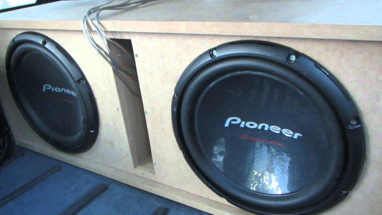m acoustic 1000 1 2x pioneer ts w310 d4 1400 watt youtube