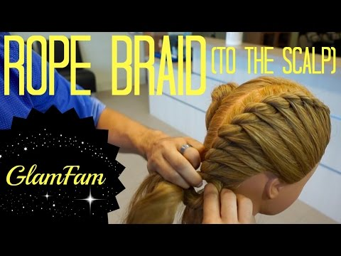 How to Rope Braid to the Scalp | 2 strand twists