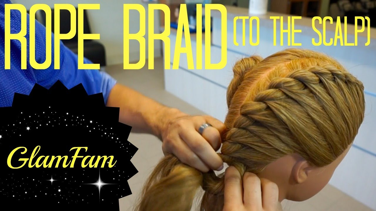 How To Rope Braid To The Scalp  2 Strand Twists