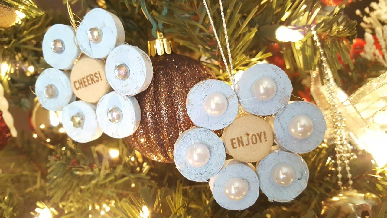 wine cork ornaments christmas crafts