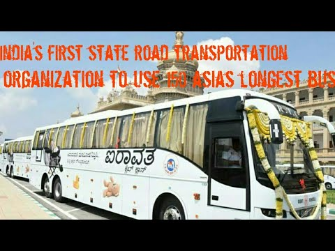 India's first state road transportation corporation to use asias longest  busses