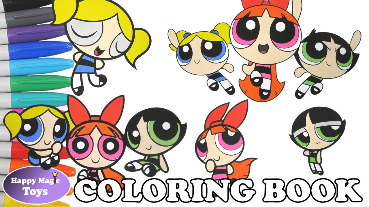 powerpuff girls coloring book pages compilation 6 buttercup