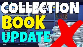 NO MORE V BUCK LEVELS! COLLECTION BOOK UPDATE - Fortnite Save The World