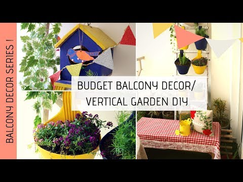 Balcony Garden Makeover  | Vertical Garden DIY | Rental Friendly Decor | Indian Balcony Tour