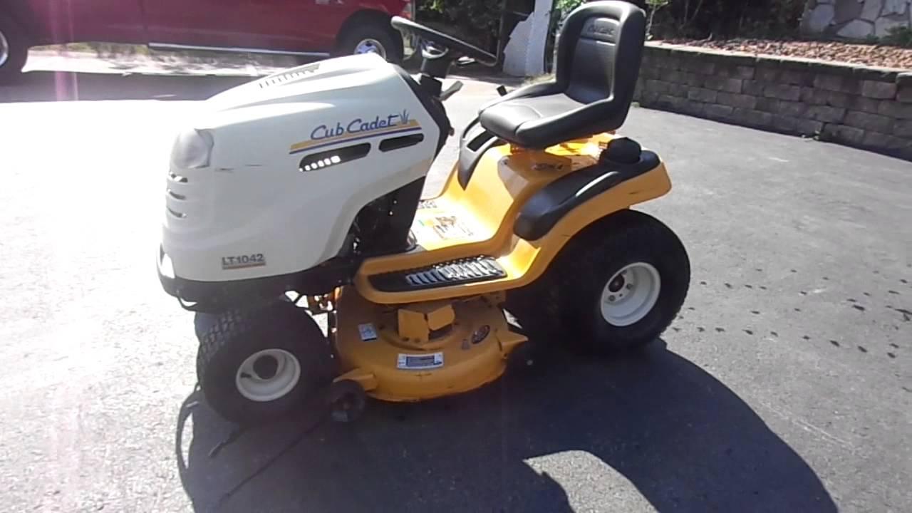 42 U0026quot  Cub Cadet Lt1042 Yard Tractor Lawn Mower With 19 Hp