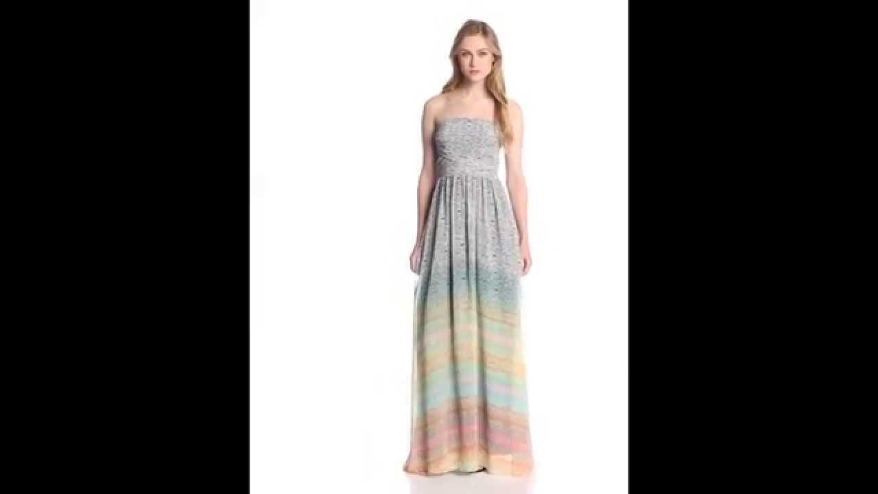 Jessica Simpson Women's Strapless Full Length Dress - YouTube