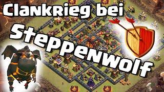 HIGHLEVEL CLANKRIEG BEI STEPPENWOLF /// Deutsch/German /// Let's Play Clash of Clans