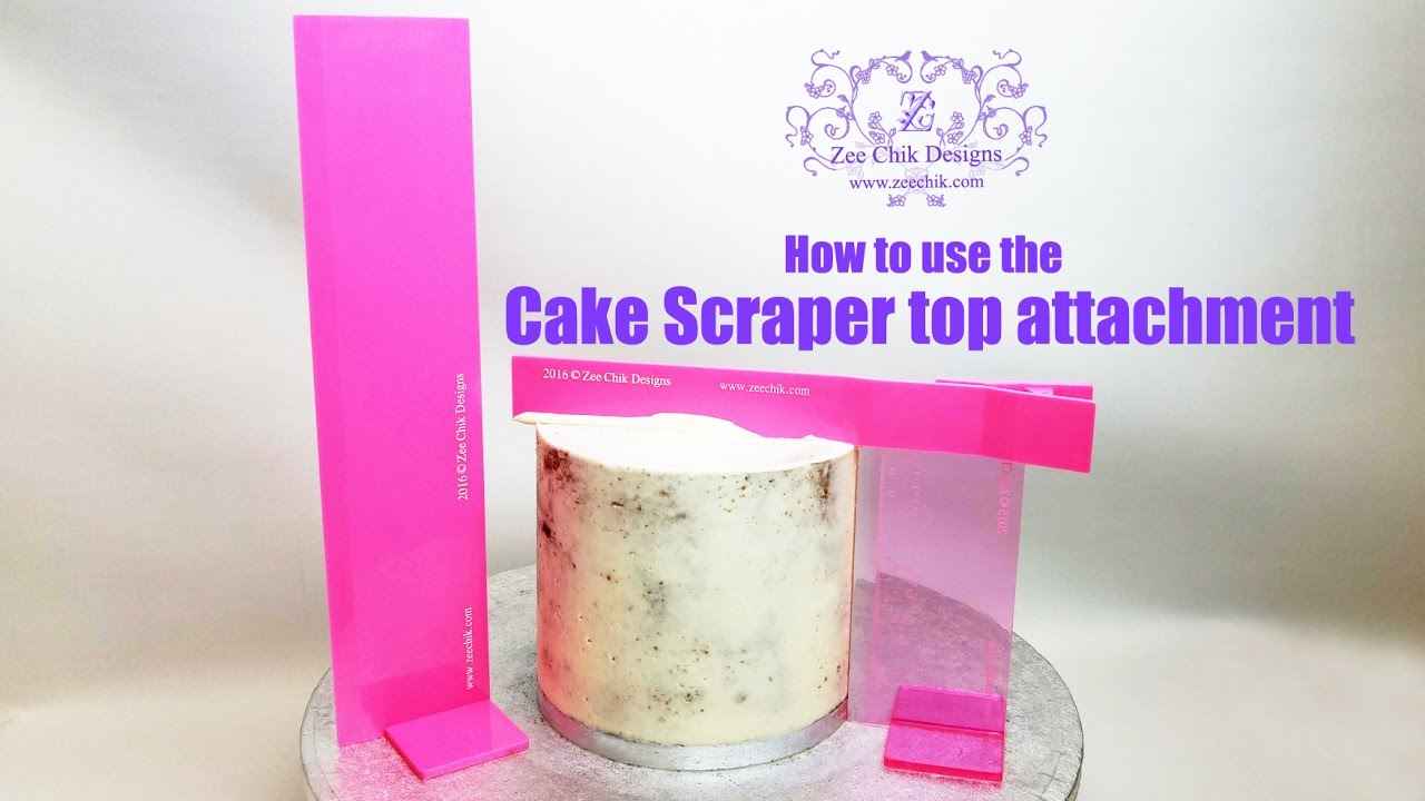 How To Use The Cake Scraper Top Attachment By Zee Chik
