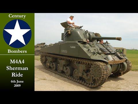 Adrian Barrell's M4A4 Sherman Tank at Debach Airfield, June 6th 2009
