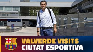 Ernesto Valverde takes the first look at the Club's training ground
