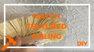 How To Blend New Textured Drywall Ceiling With Old // Garage Ceiling Repair