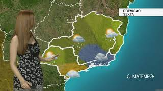 Previsão Sudeste – Alerta para temporais no RJ