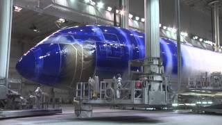 Painting the ANA Starwars R2D2 Boeing 787