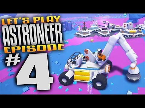 Astroneer Gameplay - Ep 4 - Truck, Crane, and Drill Head Attachment! (Let's Play Astroneer Gameplay)