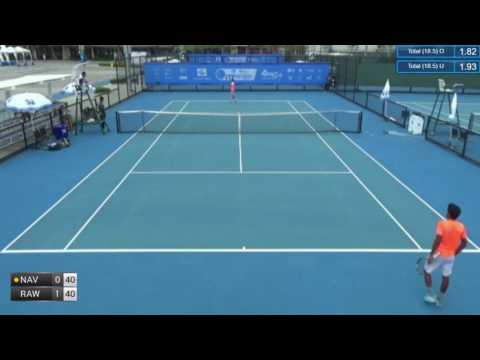 ITF Tennis 21.06.2017 Jirat Navasirisomboon (Thailand) - Sidharth Rawat (India) 2:0 (6-2 6-1)