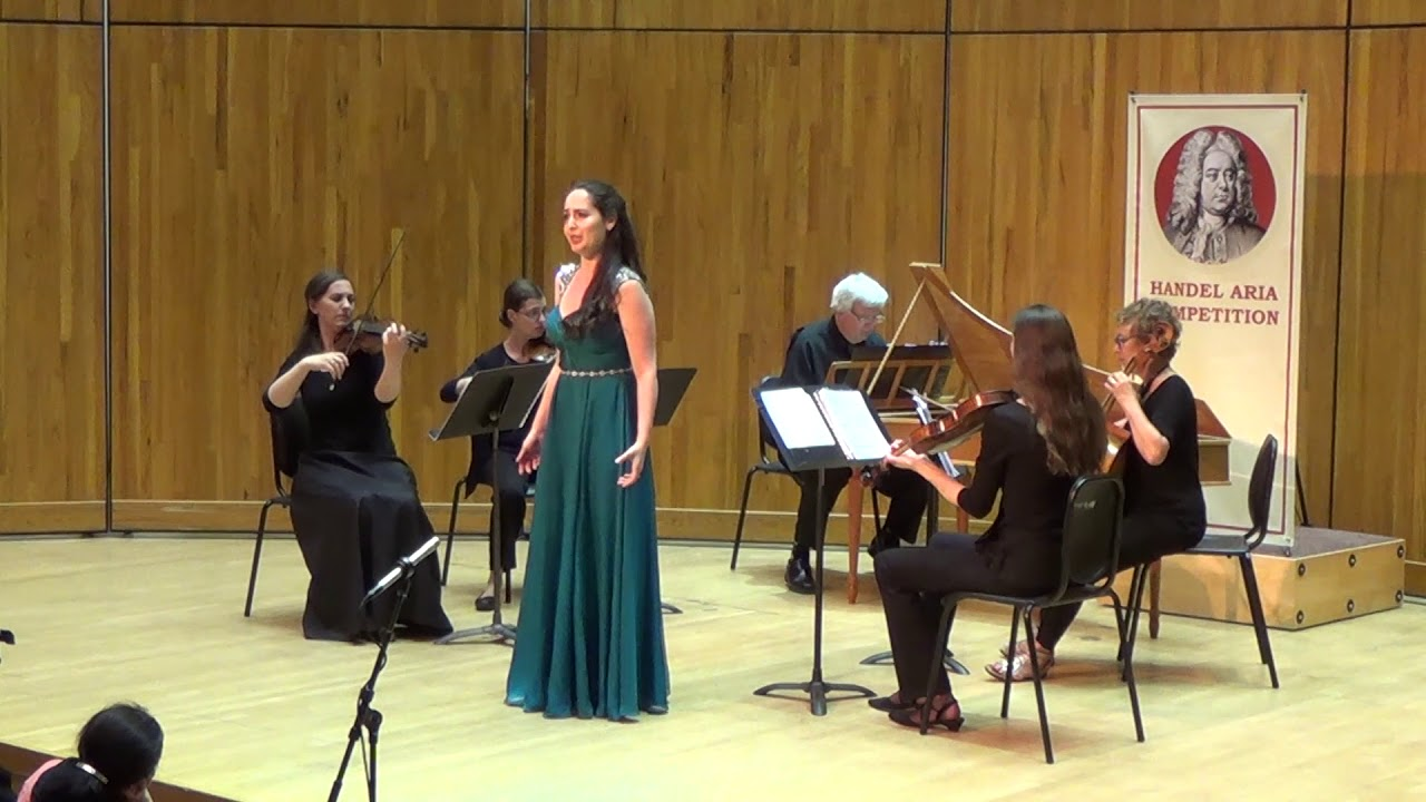 Suzanne Karpov, soprano, singing from Theodora in the 2018 Handel Aria Competition