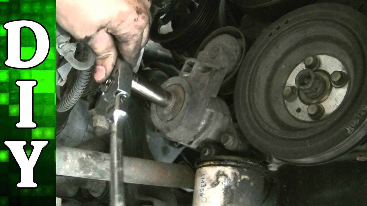 How To Remove And Replace The Serpentine Belt And Tensioner Mitsubishi 2 4l Sohc Engine Youtube