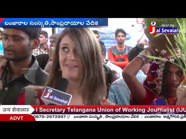 Jai Sevalal Tv Banjaras || England lady Mrs. Zaven with JSTV about The Great Banjara culture
